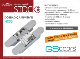 STOCK OFF! Charnière invisible H200!